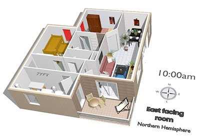 House layout with white background